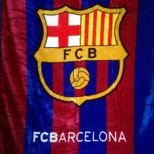 FC BARCELONA PLUSH RASCHEL KING SIZE BLANKET 84X94 IN