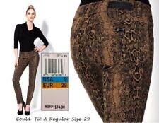 SEVEN7 $74 NEW Sexy Reptile Brown Print Skinny Leggings Jeans JR Cut 9 L30 QCO