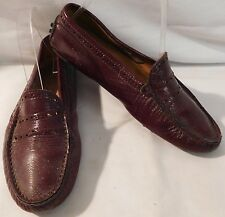 TODS MAROON LEATHER LOAFERS MOCCASINS EUR 36.5 WOMENS US 6.5 GUC