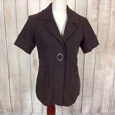 Mac & Jac Medium Wool NWT Short Sleeve Womens Dress Coat Jacket Suit Blazer $129