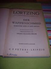 """Voti, Lortzing """"delle armi Fabbro"""", pianoforte estratto, C.F. Peters"""
