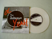 """THE SUBWAYS Oh Yeah low numbered 7"""" marbled white vinyl single"""