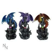 Nemesis Now Set of 3 Dragon Guardians Ornaments Statues or Gothic Gifts