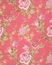 Antique Rose in Berry - Rustic Blush - Verna Mosquera Fabric Half yard FREE POST
