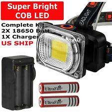 USB Rechargeable LED Headlamp Flashlight Headlight Head Torch Sensor Waterproof