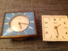 Vintage Smiths Travel Alarm Clock Made In Great Britain For Collecting Or Repair