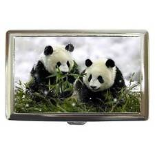 PANDA BEARS IN BAMBOO CIGARETTE, CREDIT CARD, BUSINESS CARD CASE HOLDER CUTE!