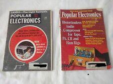 Vintage Popular Electronics Magazines Lot of 2 - 7/63 + 12/71 - Ham Radio