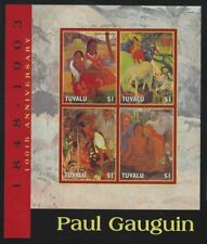 Tuvalu 2004 Paul Gauguin set & S/S Sc# 937-41 NH