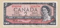 1954 $2 Bank of Canada Note Beattie Coyne T/B 2303706 - VF+