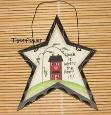 Country Decor Star Wood Sign Home is Where the Heart is Buy 2 get 1 Free mix
