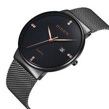 Mens Women's Unisex Waterproof Analog Quartz Dress Wrist Watch Mesh Bracelet New