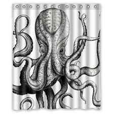 Bathroom Decor Custom Octopus Steampunk Ocean Fabric Shower Curtain 60x 72 Inch