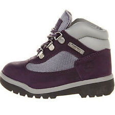 Timberland Field Boot Toddler Purple Grey Leather Fabric Kids Boots 3285R
