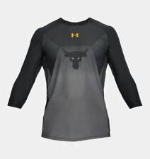 c84effa30 Under Armour Project Rock Vanish 3 4 Long Sleeve Black Gray Shirt Size  Medium