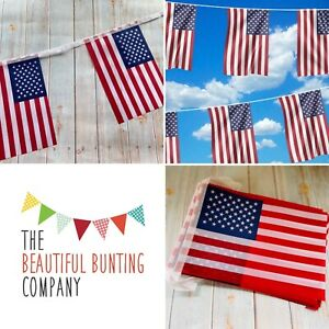 🇺🇸American Flag Bunting Celebrate Event Decor Party Theme 32 Flag 8m/26ft 🇺🇸