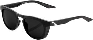 100% Slent Sunglasses - Soft Tact Black - Grey Peakpolar Lens