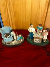 """Norman Rockwell ceramic figurines """"School Days� And """"Summertime�"""