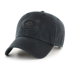 Montreal Canadians NHL Hockey All Black 47 Brand Clean Up Cap