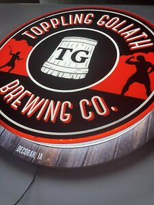 NEW Toppling Goliath Craft LED Beer Sign Bar Light With Edge Lit Effect