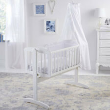 Clair de Lune Broderie Anglaise 4 Piece Crib/Cradle Bedding Set, White