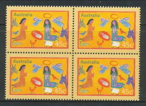 Australian Stamps: 1998 Christmas - $0.45 Block of 4
