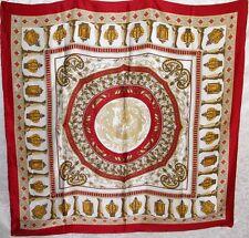 New Charmeuse Silk Scarf Roman Artwork Gold Brown