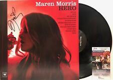 "MAREN MORRIS Signed Autograph LP Cover ""Hero"" Vinyl Record Country Music JSA"