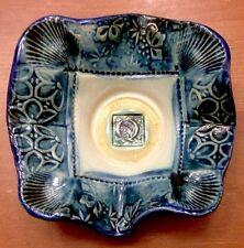 "Vintage 4.5x4.5"" Odd Shaped Ceramic Tea Light Holder! Oddity Art Decor Candle As"