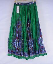 Below Knee A-Line Regular Size 100% Cotton Skirts for Women