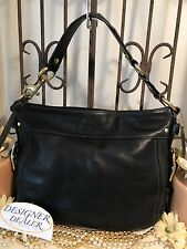 Auth~COACH~Legacy Zoe Black Leather Hobo Shoulder Handbag 12671 GUC! Medium