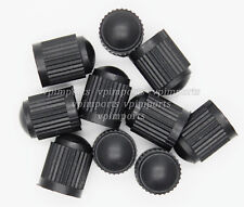 10x Black Plastic Tyre Tire Valve Alloy Wheel Dust Caps Cover Car Van Bike Truck