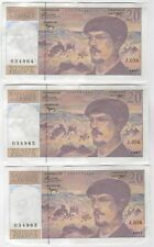 More details for 1997 france 20 francs bank notes consecutive   pennies2pounds