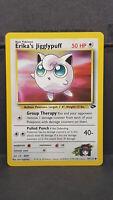 Erika's Jigglypuff 69 Gym Challenge Common Pokemon Card Near Mint