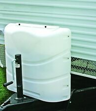 Heavy Duty 20lb or 30lb Dual Propane Tank Cover Protector White Camco RV Parts