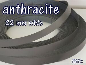 Melamine Pre Glued Iron on Edging Tape/Edge Banding 22mm  Anthracite