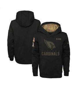 Arizona Cardinals Nike Youth Boys 2020 Salute to Service Pullover Hoody - Black