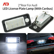 2X White Error Free LED License Plate Lamp Light For Audi Q7 A3 A4 A5 A6 RS4 S5