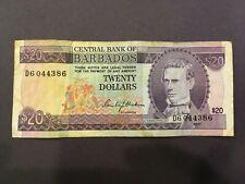 BARBADOS  20 Dollars  1973