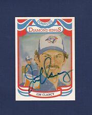 Jim Clancy signed Toronto Blue Jays 1983 Donruss Diamond King baseball card