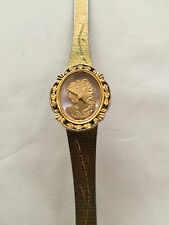 Helbros Japan 2036 Gold Tone Quartz Watch