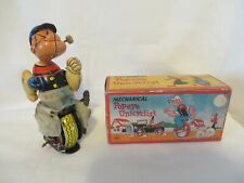 Vtg Original Line Mar Toy King Features Japan Mechanical Popeye Unicyclist Works