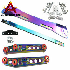 Neo Chrome Subframe Brace Rear Lower Control Arm Tie Bar For Honda Civic 92-95EG