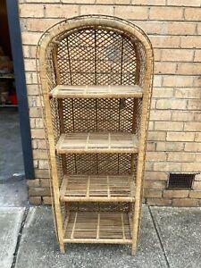 Vintage Woven Rattan Cane Shelf