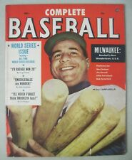 COMPLETE BASEBALL MAGAZINE DECEMBER 1953 WORLD SERIES ISSUE ROY CAMPANELLA COVER