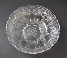 """Vintage Depression Clear Glass Footed Bowl Scallop Swag Arch Flower 8 3/4"""" G2"""