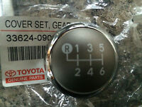 GENUINE TOYOTA YARIS 2013 GEAR KNOB CHROME CAP TOP ONLY 6 SPEED 2013