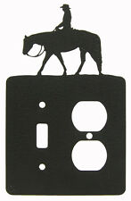 Pleasure Rider Horse Double Single Outlet Single Switch Cover Plate Black