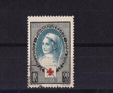 timbre France  infirmière  croix  rouge    num:  422  oblitéré