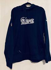 New England Patriots Navy Silver Nike Therma-Fit Hoodie Sweatshirt NFL Large